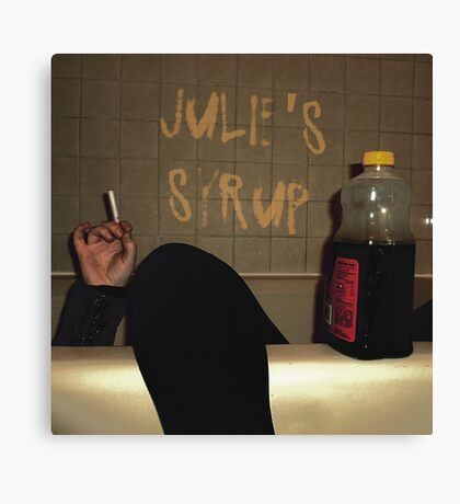 Julie's Syrup Band Logo Canvas Print