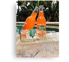 Stewart's Glass Bottles By The Pool Canvas Print