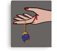 Pop Art Bloody Necklace Canvas Print