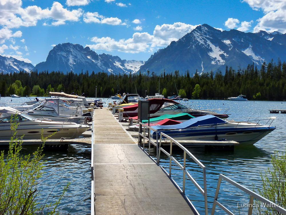 Dock at Jenny Lake by Lucinda Walter