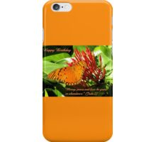 Birthday card butterfly Jude 2 iPhone Case/Skin