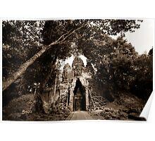 WEST GATE- Ankgor Wat, Cambodia Poster