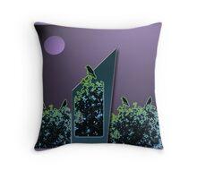 Moonlit Blackbird Song Throw Pillow