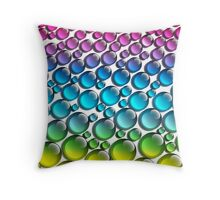 colored drops Throw Pillow