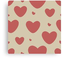 Grunge Pattern With Hearts Canvas Print