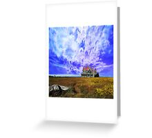 House on a Hill - background Washington State Greeting Card