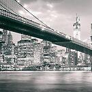 Brooklyn Bridge at Night by Vivienne Gucwa