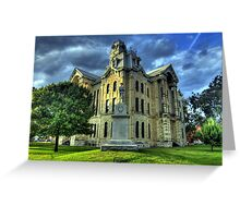 Hill County Courthouse Greeting Card