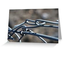 Wire fence Greeting Card