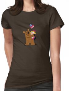 Papa Grizzley  Blonde Girl Womens Fitted T-Shirt