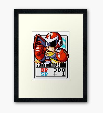 Proto Man - Mega Man Framed Print