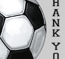 Soccer Ball Art Thank You Coach by ImagineThatNYC