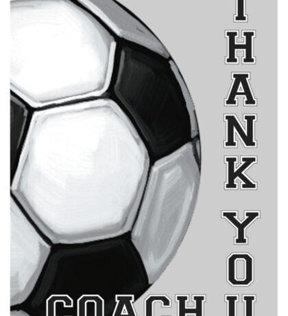 Soccer Ball Art Thank You Coach Sticker