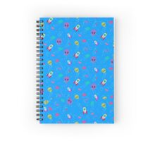 Alien Pattern Spiral Notebook