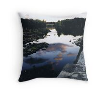 Cloud Reflection in River Throw Pillow