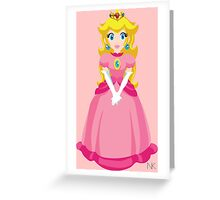 Princess Peach Greeting Card