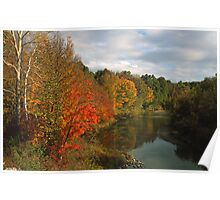 Black River Autumn Poster