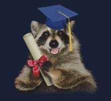 Graduation Raccoon Baby Tee
