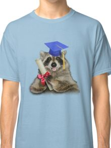 Graduation Raccoon Classic T-Shirt