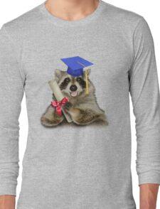 Graduation Raccoon Long Sleeve T-Shirt
