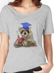 Graduation Raccoon Women's Relaxed Fit T-Shirt