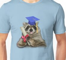 Graduation Raccoon Unisex T-Shirt
