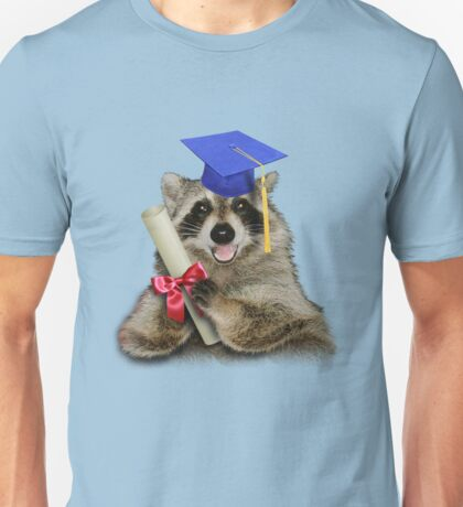 Graduation Raccoon Unisex T-Shirt
