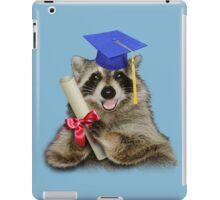 Graduation Raccoon iPad Case/Skin