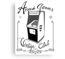Arcade gamers - Vintage club Canvas Print