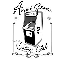 Arcade gamers - Vintage club Photographic Print