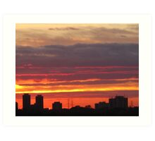 West Side Story  Rumble Sunset Art Print