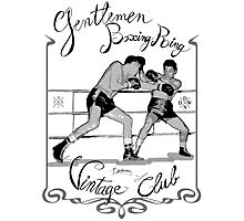 Boxing ring - Vintage club Photographic Print