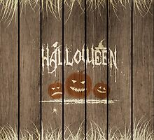 Wooden Halloween Background by Olga Altunina