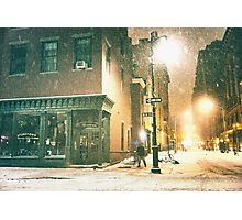 Greenwich Village on a Winter Night - New York City Photographic Print