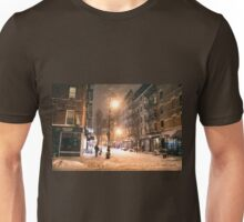 Lower East Side - Winter Night - New York City Unisex T-Shirt