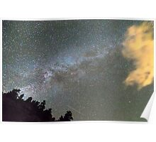 Milky Way Perseid Meteor Shower Poster