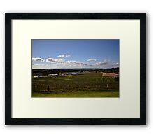 Hunter Valley Vista Framed Print