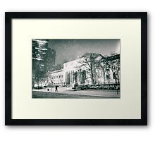 Winter Night - 5th Avenue - New York City Framed Print