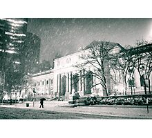 Winter Night - 5th Avenue - New York City Photographic Print