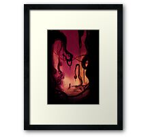 the heart of darkness Framed Print