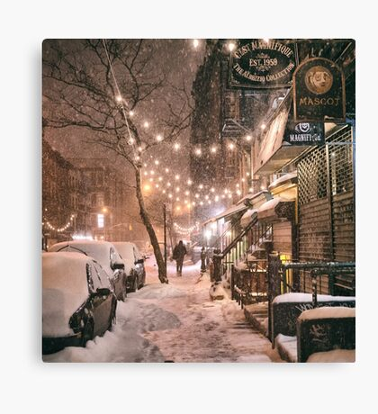 East Village in the Snow - New York City Canvas Print