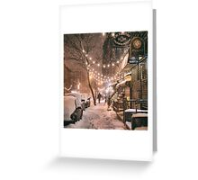 East Village in the Snow - New York City Greeting Card