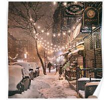East Village in the Snow - New York City Poster