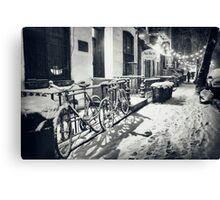 Winter Night - East Village - New York City Canvas Print