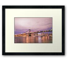 New York City - The Manhattan Bridge Framed Print