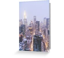 Winter Morning Overlooking the New York City Skyline Greeting Card