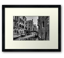 Strolling on the Fondamenta Frari - B&W Framed Print
