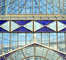 Blue glass conservatory - Adelaide Botanic Gardens by Joanne Emery