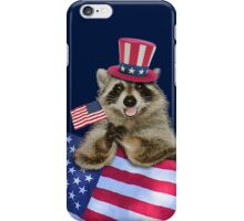 Patriotic Raccoon iPhone Case/Skin