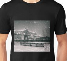 New York City - Snowy Night Unisex T-Shirt